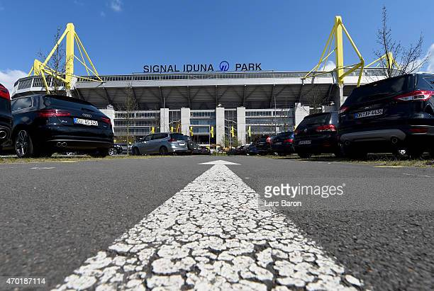 A general view during the Bundesliga match between Borussia Dortmund and SC Paderborn at Signal Iduna Park on April 18 2015 in Dortmund Germany
