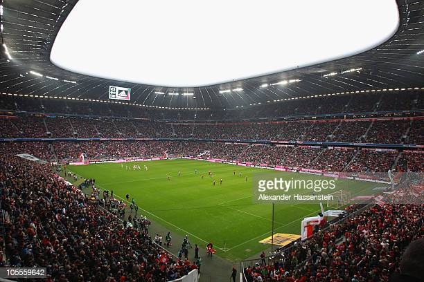 General view during the Bundesliga match between FC Bayern Muenchen and Hannover 96 at Allianz Arena on October 16 2010 in Munich Germany