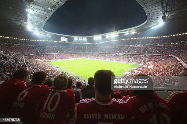 General view during the Bundesliga match between FC Bayern Muenchen and VfL Wolfsburg at Allianz Arena on August 22 2014 in Munich Germany