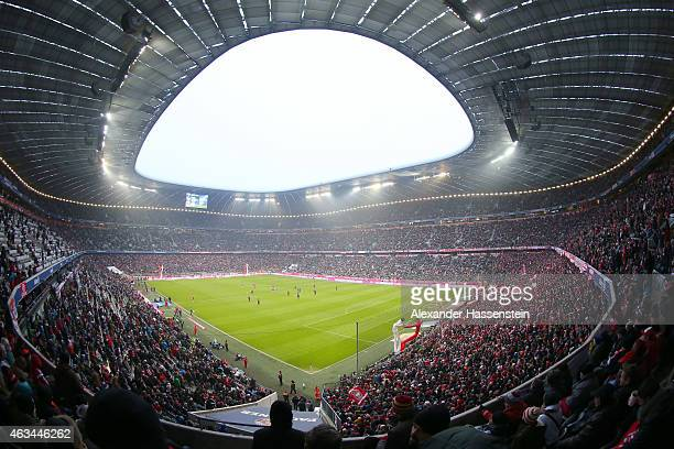 General view during the Bundesliga match between FC Bayern Muenchen and Hamburger SV at Allianz Arena on February 14 2015 in Munich Germany