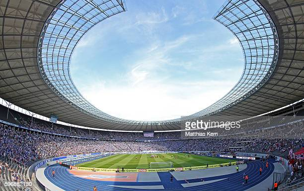 A general view during the Bundesliga match between Hertha BSC and SC Freiburg at Olympiastadion on August 28 2016 in Berlin Germany