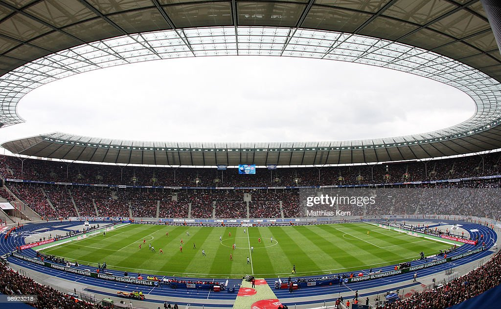 General view during the Bundesliga match between Hertha BSC Berlin and FC Bayern Muenchen at Olympic Stadium on May 8 2010 in Berlin Germany