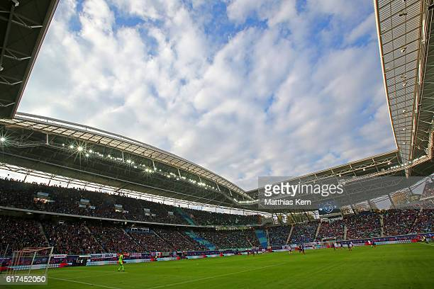 A general view during the Bundesliga match between RB Leipzig and SV Werder Bremen at Red Bull Arena on October 23 2016 in Leipzig Germany