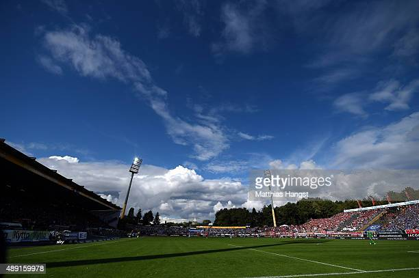 A general view during the Bundesliga match between SV Darmstadt 98 and FC Bayern Muenchen at MerckStadion am Boellenfalltor on September 19 2015 in...