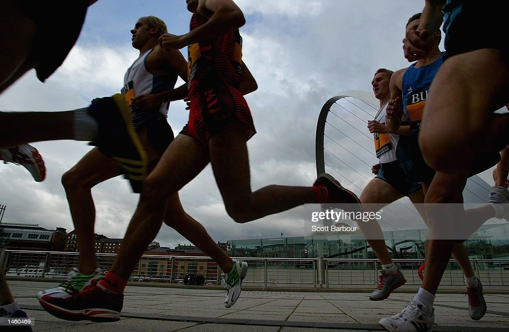 A general view during the BUPA Great North Mile International Women's Race on October 5, 2002 in Newcastle, England.