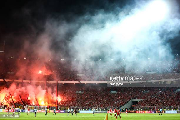 General view during the CAF Champions League final football match between AlAhly and Wydad Casablanca at the Borg El Arab Stadium in Alexandria on...
