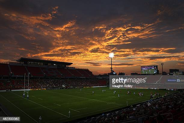 A general view during the Canada v Samoa World Rugby Pacific Nations Cup match at BMO Field on July 29 2015 in Toronto Ontario Canada