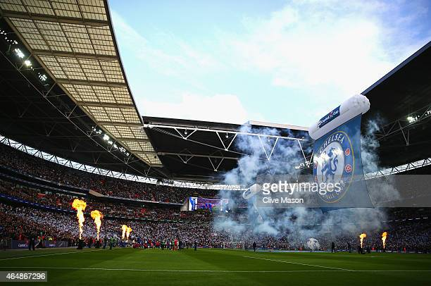 A general view during the Capital One Cup Final match between Chelsea and Tottenham Hotspur at Wembley Stadium on March 1 2015 in London England