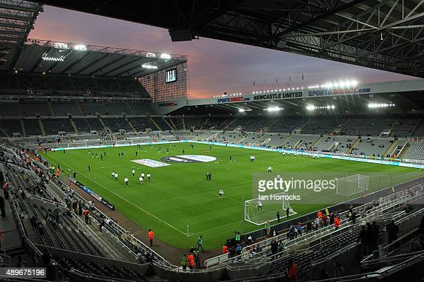 A general view during the Capital One Cup third round match between Newcastle United and Sheffield Wednesday at St James' Park on September 23 2015...
