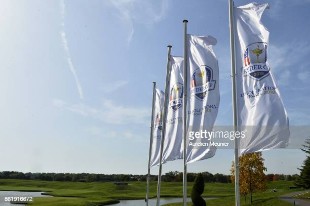 A general view during the Captain's Challenge at Golf National on October 16 2017 in SaintQuentin en Yvelines France