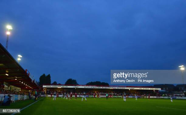 General view during the Carabao Cup Second Round match at the Wham Stadium Accrington
