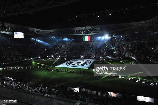 A general view during the ceremony of inauguration of the new stadium of FC Juventus ahead of the pre season friendly match between FC Juventus and...