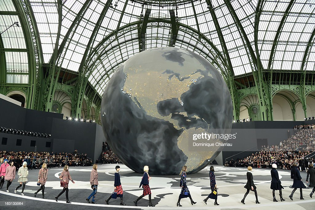 General view during the Chanel Fall/Winter 2013 Ready-to-Wear show as part of Paris Fashion Week at Grand Palais on March 5, 2013 in Paris, France.