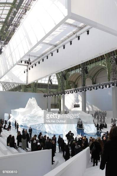 General view during the Chanel Ready to Wear show as part of the Paris Womenswear Fashion Week Fall/Winter 2011 at Grand Palais on March 9 2010 in...