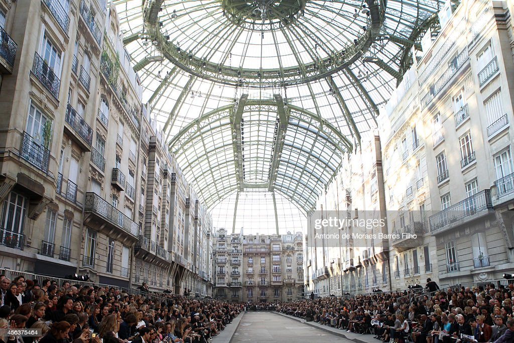 General view during the Chanel show as part of the Paris Fashion Week Womenswear Spring/Summer 2015 on September 30 2014 in Paris France