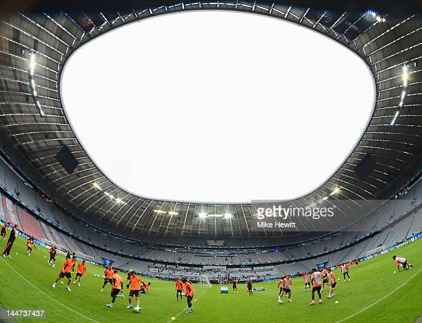 General View during the Chelsea training session ahead of the UEFA Champions League Final between FC Bayern Muenchen and Chelsea at the Fussball...