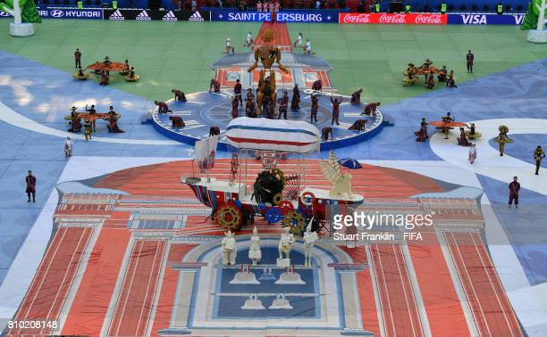 A general view during the closing ceremony at the FIFA Confederations Cup Russia 2017 Final match between Chile and Germany at Saint Petersburg...
