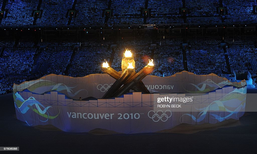 General view during the closing ceremony of the XXI Olympic Winter Games, at the BC Place in Vancouver on February 28, 2010. AFP PHOTO / ROBYN BECK