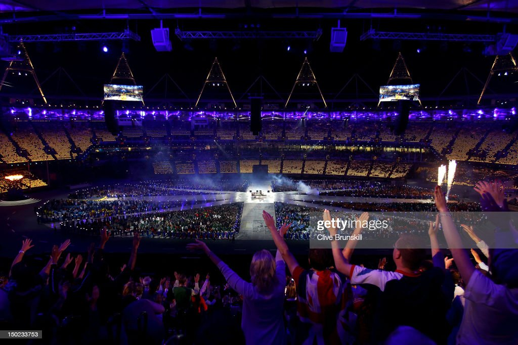 A general view during the Closing Ceremony on Day 16 of the London 2012 Olympic Games at Olympic Stadium on August 12, 2012 in London, England.