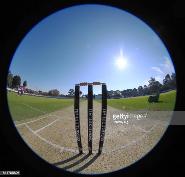 General view during the Cricket NSW Intra Squad Match at Hurstville Oval on September 2 2017 in Sydney Australia