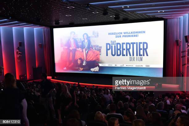 General view during the ''Das Pubertier'' premiere at Mathaeser Filmpalast on July 4 2017 in Munich Germany