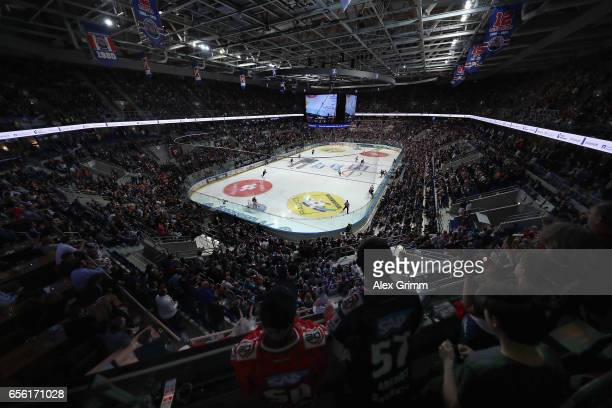 A general view during the DEL Playoffs quarter finals Game 7 between Adler Mannheim and Eisbareren Berlin at SAP Arena on March 21 2017 in Mannheim...