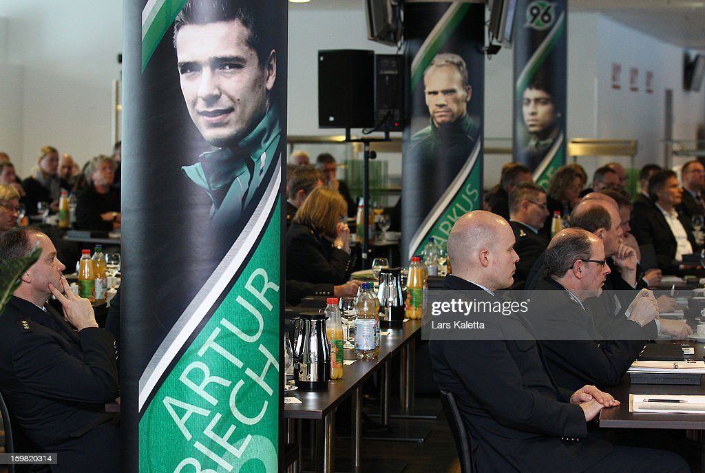 A general view during the DFB & DFL regional conference at AWD Arena on January 21, 2013 in Hanover, Germany.