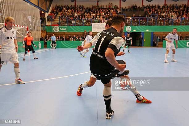 General view during the DFB Futsal Cup final match between Hamburg Panthers and UFC Muenster at Sporthalle Wandsbek on April 6 2013 in Hamburg Germany