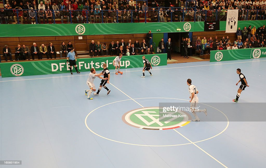 General view during the DFB Futsal Cup final match between Hamburg Panthers and UFC Muenster at Sporthalle Wandsbek on April 6, 2013 in Hamburg, Germany.