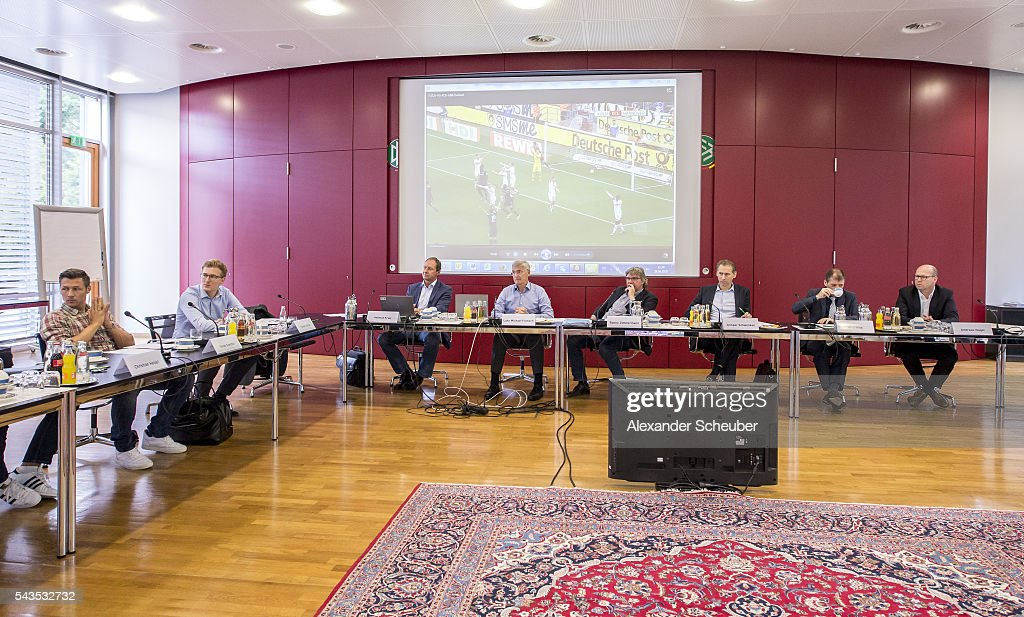 A general view during the DFB referee's - round table at DFB Headquarter on June 29, 2016 in Frankfurt am Main, Germany.