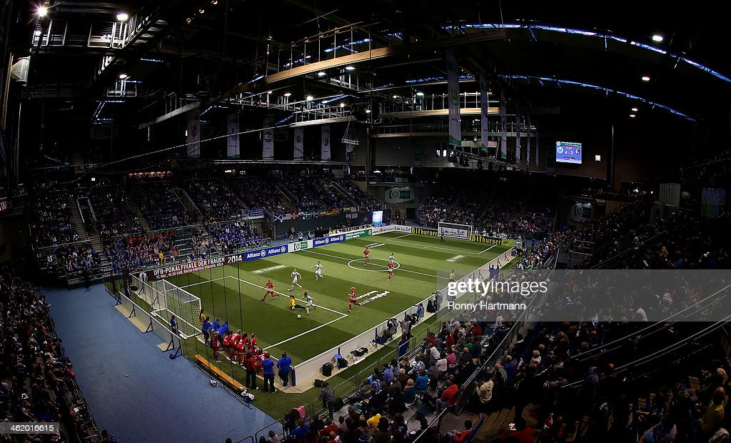 A general view during the DFB Women's Indoor Cup 2013 at GETEC-Arena on January 12, 2014 in Magdeburg, Germany.