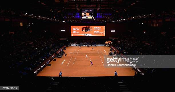 A general view during the doubles finals on Day 7 of the Porsche Tennis Grand Prix at PorscheArena on April 24 2016 in Stuttgart Germany