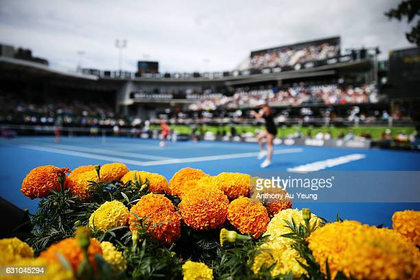 General view during the doubles match between Demi Schuurs of Netherlands with Renata Voracova of Czech Republic and Gabriela Dabrowski of Canada...