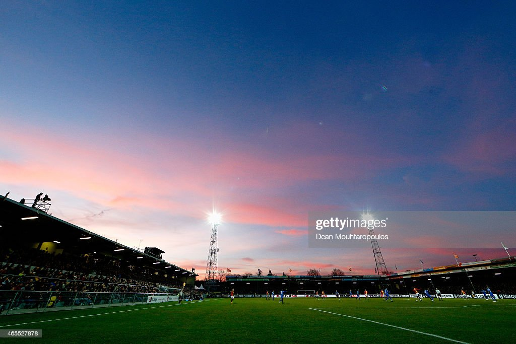 A general view during the Dutch Eredivisie match between Go Ahead Eagles and PSV Eindhoven held at the De Adelaarshorst Stadium at on March 7 2015 in...