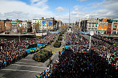 A general view during the Easter Sunday Commemoration Ceremony and parade on March 27 2016 in Dublin Ireland Today marks the 100th anniversary of the...