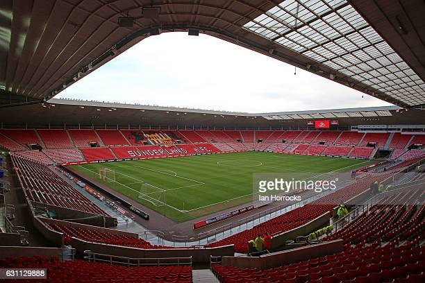 A general view during the Emirates FA Cup third round match between Sunderland and Burnley at Stadium of Light on January 7 2017 in Sunderland England