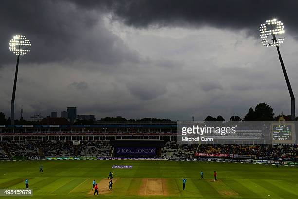 A general view during the England v Sri Lanka fifth one day international match at the Edgbaston Cricket Ground on June 03 2014 in Edgbaston England