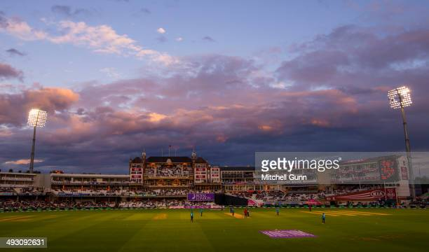 A general view during the England v Sri Lanka first one day international match at the Kia Oval Ground on May 22 2014 in London England