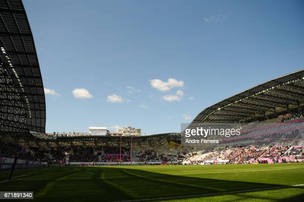 General view during the European Challenge Cup semi final between Stade Francais and Bath on April 23 2017 in Paris France