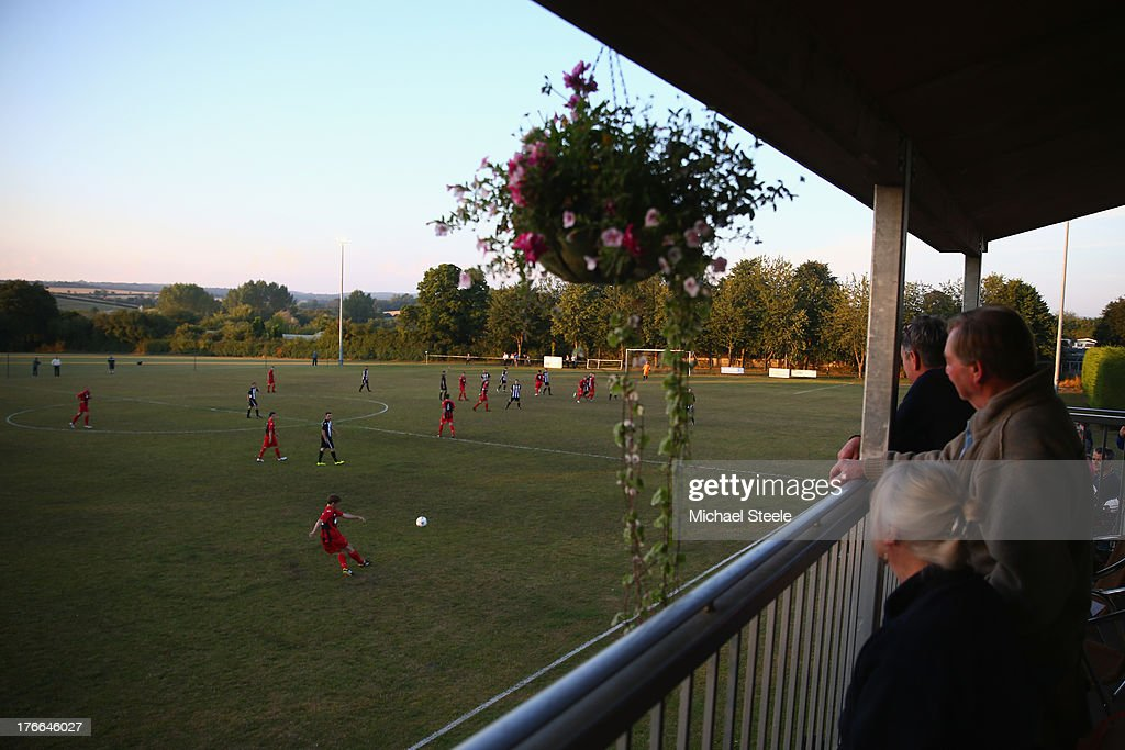 General view during the FA Cup Extra Preliminary Round match between Alresford Town and Winchester City at Alrebury Park on August 16, 2013 in New Alresford, England.