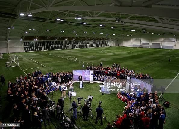 A general view during the FA Cup First Round Draw at St Georges Park on October 27 2014 in BurtonuponTrent England
