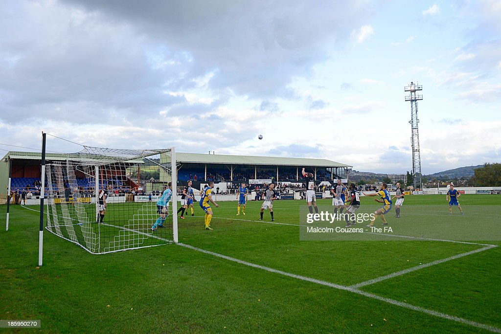 General view during the FA Cup fourth qualifying round match between Bath City and Salisbury at Twerton Park on October 26, 2013 in Bath, England.