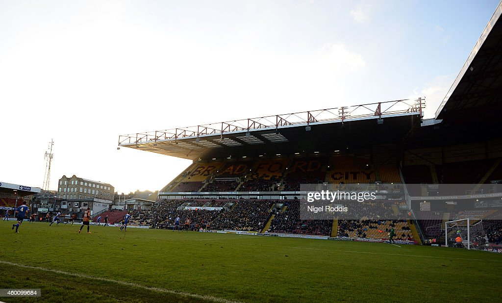 A general view during the FA Cup Second Round football match between Bradford City and Dartford at Coral Windows Stadium, Valley Parade on December 7, 2014 in Bradford, England.