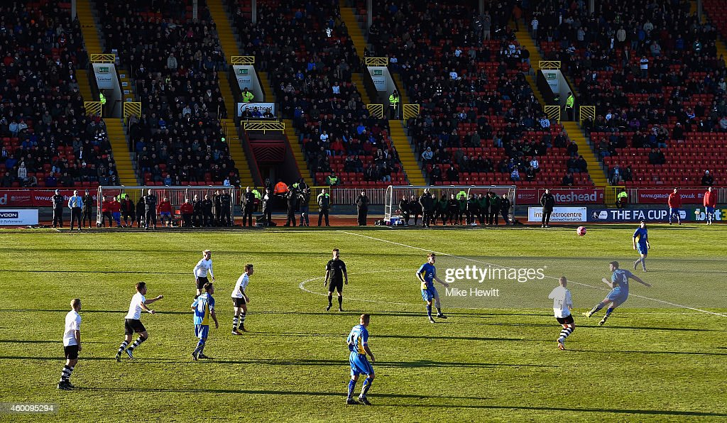 A general view during the FA Cup Second Round tie between Gateshead FC v and Warrington Town at the Gateshead International Stadium on December 7, 2014 in Gateshead, England.