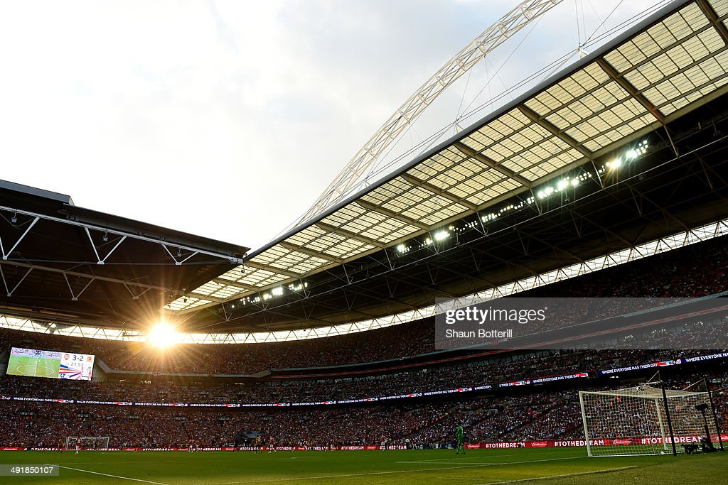 A general view during the FA Cup with Budweiser Final match between Arsenal and Hull City at Wembley Stadium on May 17 2014 in London England