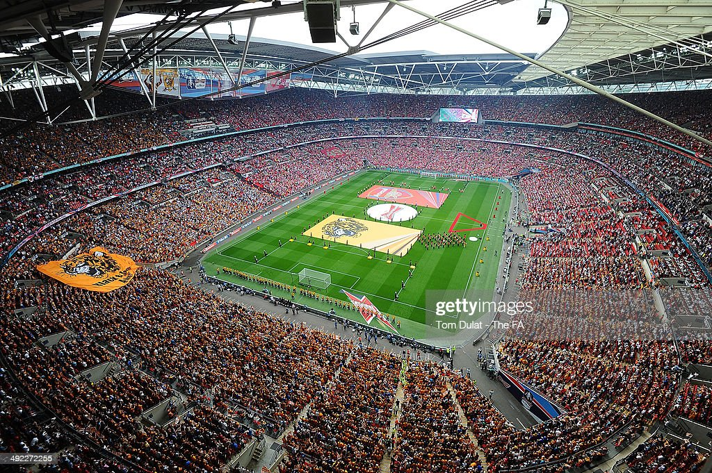 A general view during the FA Cup with Budweiser Final match between Arsenal and Hull City at Wembley Stadium on May 17, 2014 in London, England.