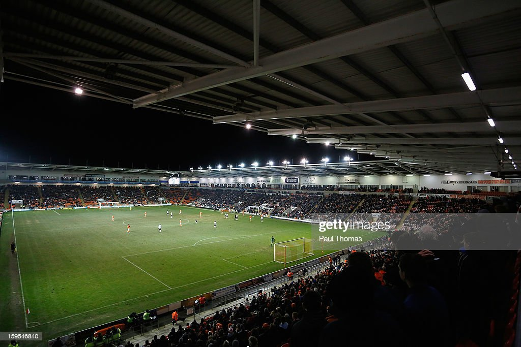 General View during the FA Cup with Budweiser Third Round Replay match between Blackpool and Fulham at Bloomfield Road on January 15, 2013 in Blackpool, England.