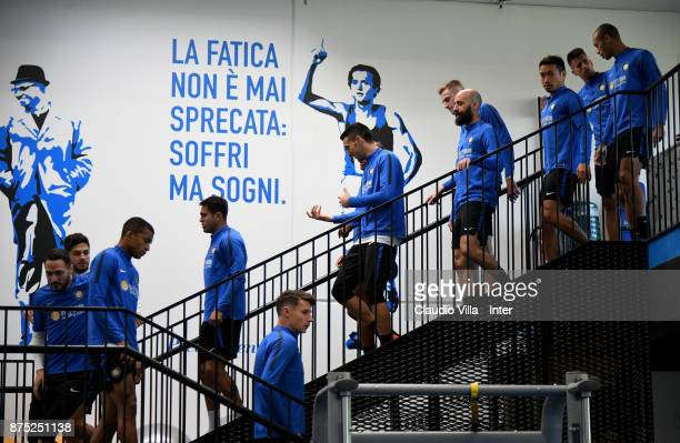 A general view during the FC Internazionale training session at Suning Training Center at Appiano Gentile on November 17 2017 in Como Italy