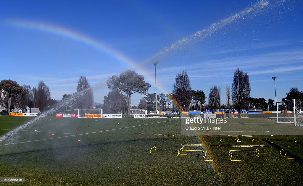 General view during the FC Internazionale training session at the club's training ground at Appiano Gentile on February 11, 2016 in Como, Italy.