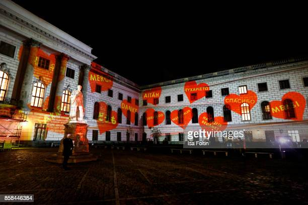 General view during the Festival of Lights at Humboldt University on October 6 2017 in Berlin Germany From October 6 till October 15 there will be a...